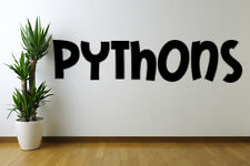 Pythons text Removable Wall Art Decal