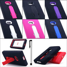 Kickstand Impact Hybrid Hard Case Gel Cover For Nokia Lumia 920 AT&T