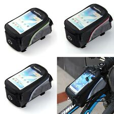 """Bicycle Front Tube Pannier Bag 4.2"""" 4.8"""" 5.5"""" Phone Case for iPhone Samsung USA"""