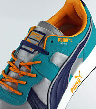 MENS PUMA 356331 04 RS100 AW COLOR: LIMESTONE/PEACOAT/BLUE