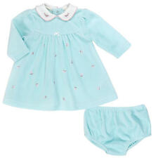 Little Me Girls' 2 Piece Velour Dress with Panty - Mint Green