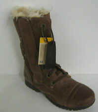 LADIES CATERPILLAR BROWN LEATHER BOOTS STYLE JANE FUR