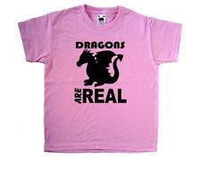 Dragons Are Real Pink Kids T-Shirt
