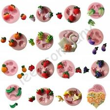 Love Flower Fruit Vegetable Silicone Mould for Polymer Clay Candy Chocolat Craft