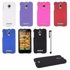 For Alcatel One Touch Fierce T-Mobile Solid Rubberized Case Phone Cover + Stylus