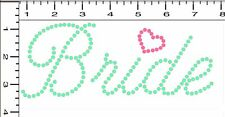 NEW Pre-Cut Sticky Flock Hotfix Rhinestone Transfer Template Cursive BRIDE