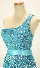 WINDSOR Aqua Full Sequins Homecoming Evening Party Dress NWT - Avail Size 3,5,7