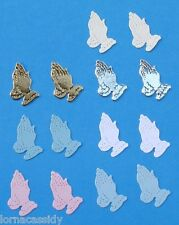 24 Praying Hands Die-Cuts Baby Christening Communion Religious Wedding Cards