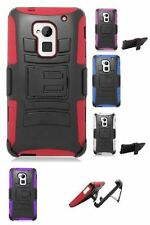 For HTC One Max Robotic Holster Belt Clip Stand Hard Soft Cover Case Protector