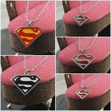 Fashion Stainless Steel Chains Superman Pendant Necklace Charms Shield Findings
