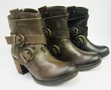 Hush Puppies Ladies Moorland Leather Ankle Boots 3 Available Colours New