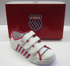 K.swiss Childrens Moulton White/Beetroot Trainers New