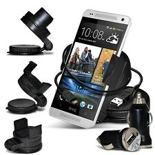 Windscreen 360° Car Holder, USB Car Charger & Data Cable For Nokia Mobile Phones