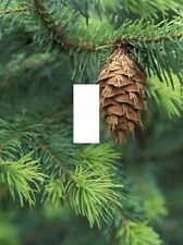 Pinecone rustic lodge log cabin house LIGHT SWITCH PLATE home decor