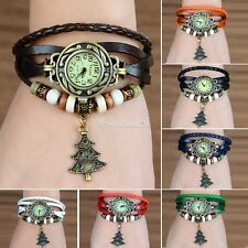 Christmas tree Gift Bracelet Wrap Watch Quartz Movement Wrist Watch Girl Women W