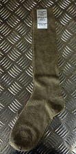 Genuine British Army Wool / Nylon - Khaki Long Thin Socks Stockings - BRAND NEW