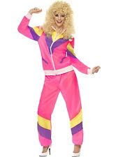 Adults Womens 80's Height Of Fashion Shell Suit Fancy Dress Costume - 3 Sizes