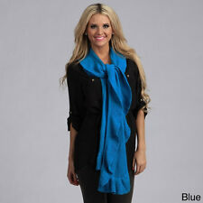 Cashmere Showroom Decorative Ruffle Cashmere/ Rayon from Bamboo Knit Scarf