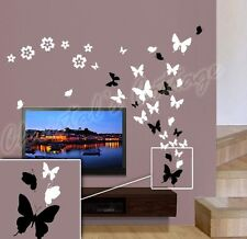 Up to 53 Butterfly Bedroom Bathroom Kitchen Wall Art Stickers Kids Decals 4Sizes