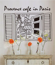 Large Coffee in Paris Wall Art Sticker Decal Fashionable Decoration Cafe Sign