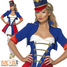 Naughty Nutcracker Fancy Dress Ladies Christmas Party Costume Outfit UK 8-16