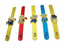 NEW! DESPICABLE ME 2 MINIONS SLAP WATCHES GREAT STOCKING STUFFER! MINIONS!
