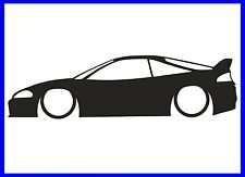 1x LOW Mitsubishi Eclipse (2G) GS GSX GS-T Silhouette stickerdecal LR155