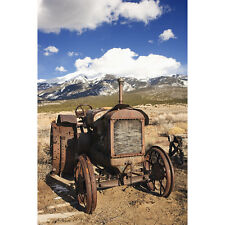 'Rusty Junk Tractor in Rural Landscape, Colorado Mountain Range' Photography Can