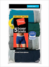 Hanes Boxer Briefs Style 7349Z5 Men's Assorted 5-Pack Comfort Soft Waistband