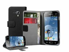WALLET Leather Flip Case Cover Pouch for Samsung Galaxy S Duos GT-S7562