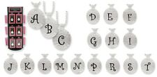 Hammered Monogram Initial Letter Alphabet Personalized Pendant Necklace