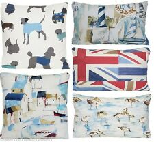 Blue Cushion Cover Animals Dogs Pillow Throw Case Birds Red Union Jack Boats