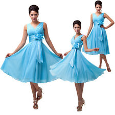 2014 New Sexy Short Mini Ball Gown Chiffon Party Cocktail Bridesmaid Prom dress
