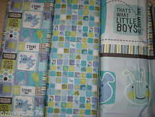What Little Boys are made of cotton fabric - Frogs Dogs Puppy Dogs - Boy fabric
