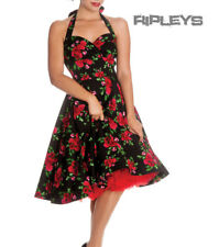 HELL BUNNY 50s DRESS Flowers CANNES Rockabilly Pin Up BLACK Floral All Sizes
