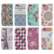 Card Holder Flip Wallet PU Leather Case Cover Stand Purse For Apple iPhone 5 5S
