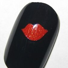 Finger nail / Toe nail Lips Kiss decals / stickers / art Valentine's Day