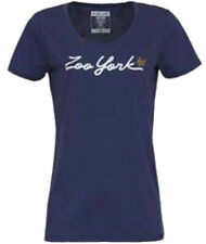 Zoo York Script Logo Crew Tee Shirt Cobalt T Top Damen Womens Girls