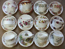 Vintage Mismatch Bone China Cups and Saucers Wedding Parties