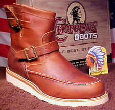 Chippewa Boots USA MADE Engineer Shoes Wedge Sole Moccasin Toe American 97876