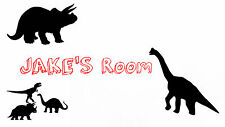 Dinosaurs Kids Room Teens Room Wall art poster home decor  PERSONALIZE FREE