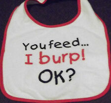 """NEW  - """"WHAT BABIES WOULD SAY IF THEY COULD TALK"""" BIBS – 6 DIFFERENT ONES"""