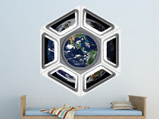 Space Shuttle Cupola Outer Space Wall Decal