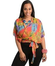 New - Sweet Ladies Poncho Style Floral Overtop - Size 14,16 & 18