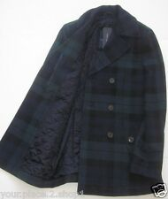 "Tommy Hilfiger Euro Mens Blue/Green/Black Double Breasted ""Blackwatch"" Peacoat"