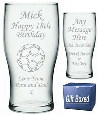 Engraved Pint Glass 18th 21st 30th Birthday Gift