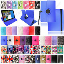 For Samsung Galaxy Tablets Notes Various PU Leather Printed Case Cover + Stylus