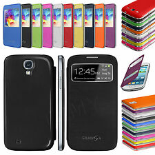 S-View Screen Smart Case Battery Cover For SAMSUNG Galaxy S3 Mini S4 S3 Note III