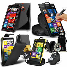 10 in 1 Bundle Kit Accessory Case Cover Car Holder Charger For Nokia Lumia 1520