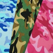 Army Camouflage Multi Colour 100% Brushed Cotton Fabric Flannel